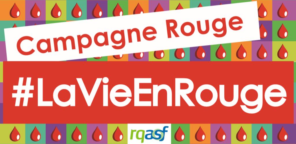 Bannière de Campagne Rouge hashatg La Vie En Rouge