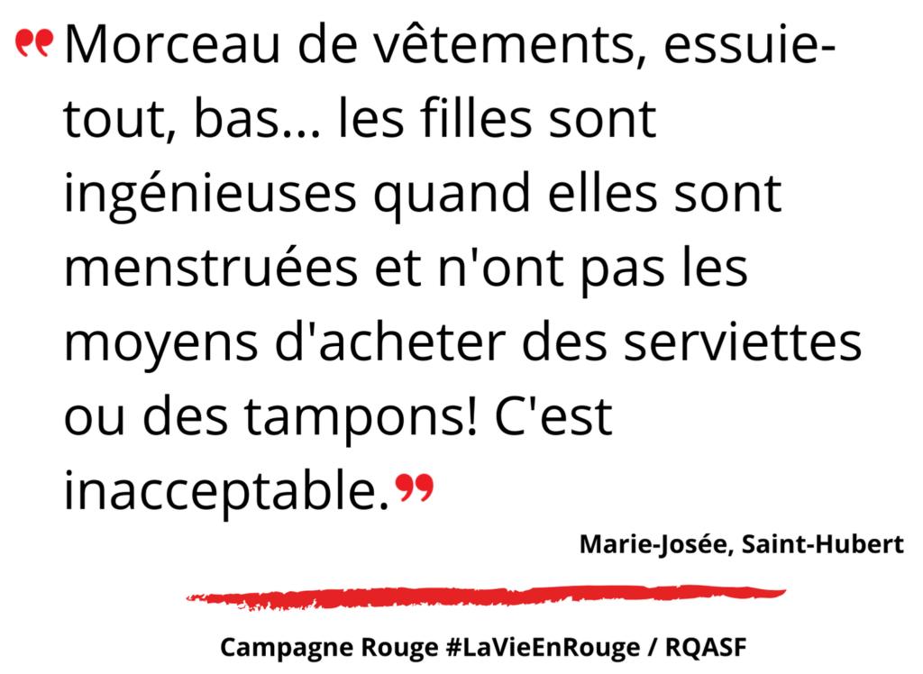 Témoignage de Marie-Josée, Longueuil