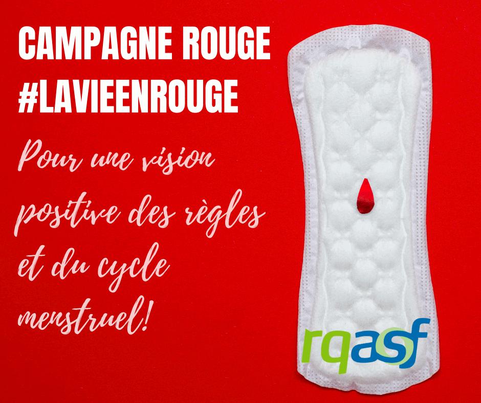 Campagne Rouge: pour une vision positive des règles et du cycle menstruel!